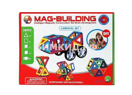 36 дет. Магнитный конструктор, Mag-Building