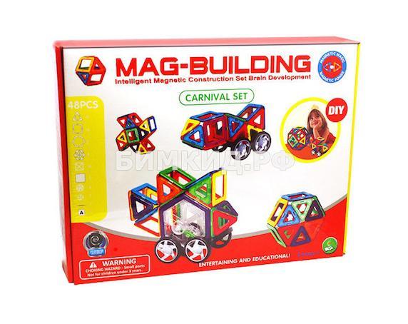 48 дет. Магнитный конструктор, Mag-Building