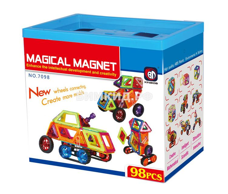 98 дет. Магнитный конструктор, Magical Magnet