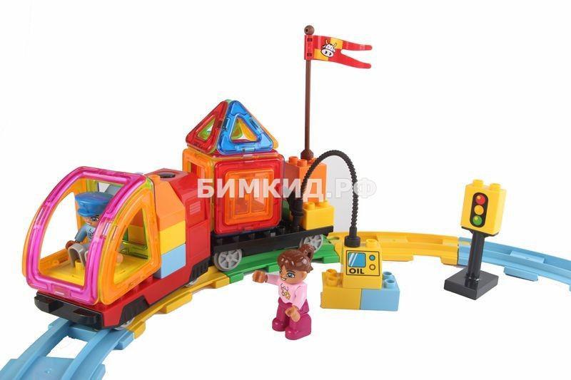 Магнитный конструктор Железная дорога