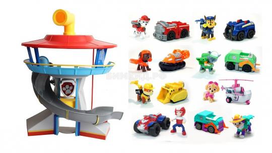 Офис Спасателей + Набор из 8 героев с машинками (Щенячий Патруль  Paw Patrol )
