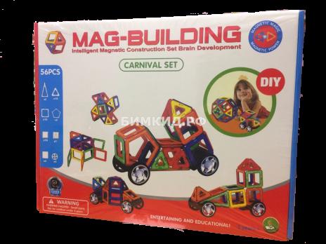 56 дет. Магнитный конструктор, Mag-Building