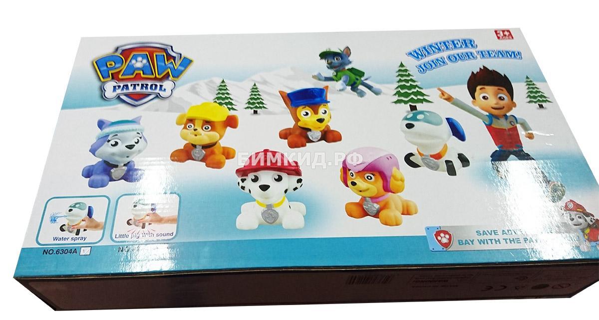 Набор 8 резиновых игрушек для ванны Щенячий патруль (Paw patrol)