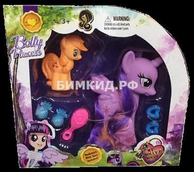 Набор 2 Пони + расческа Bolly Princess