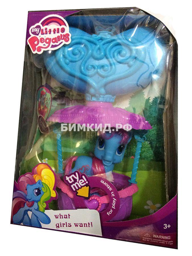 """Музыкальный Набор """"Пони в корзинке с сердечком"""" (My Little Pegasus)"""