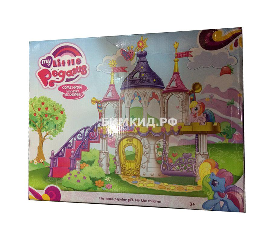 """Набор """"Замок с качелями для Пони"""" 6 фигурок + аксессуары (My Little Pegasus)"""
