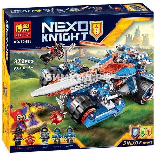 """Конструктор Nexo Knights (Нексо Найтс) """"Устрашающий разрушитель Клэя"""" 379 дет. Bela"""