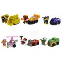 Набор 1 поколение. 6 героев с машинками и рюкзаками-трансформерами Щенячий Патруль (Paw Patrol)