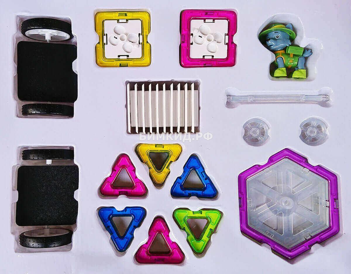 52 дет. Магнитный конструктор Leqi Toys + игрушка Щенячий патруль (Paw patrol)