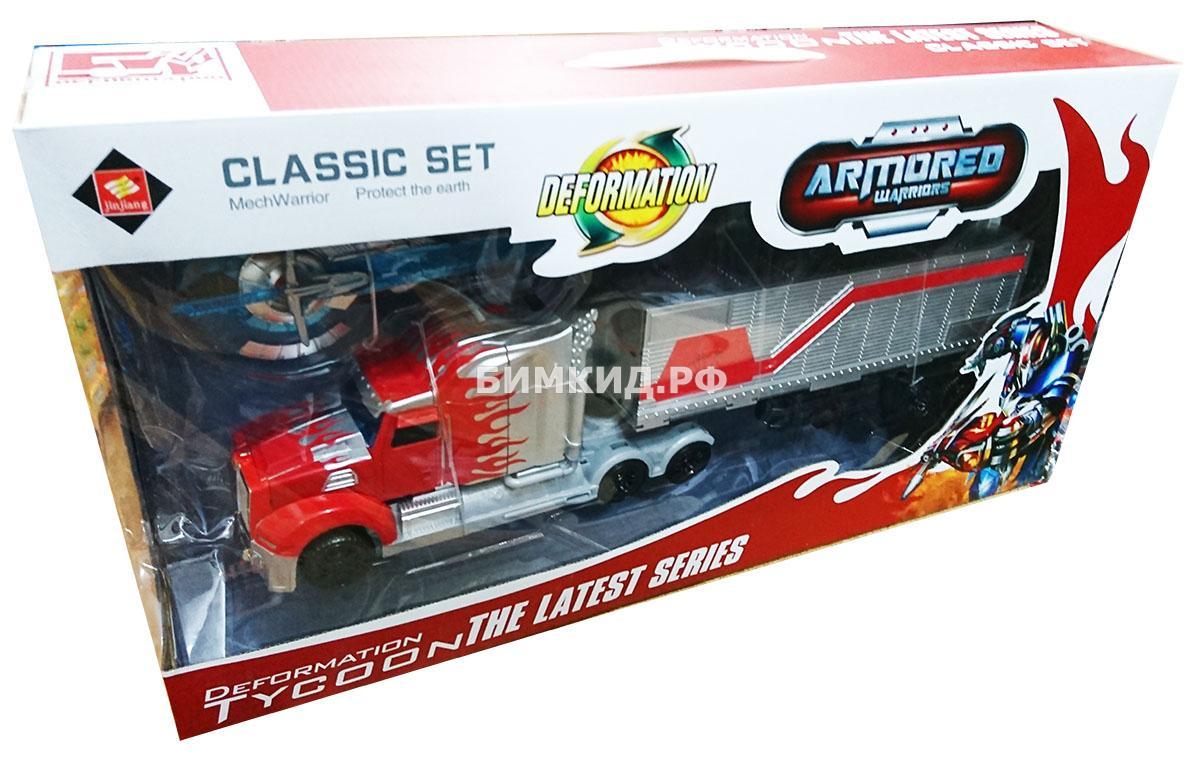 Трейлер-трансформер Оптимус Прайм с оружием Трансформеры (Transformers)