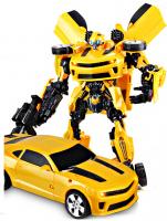 Огромный Бамблби 42 см с музыкой и светом (робот-трансформер Bumblebee)