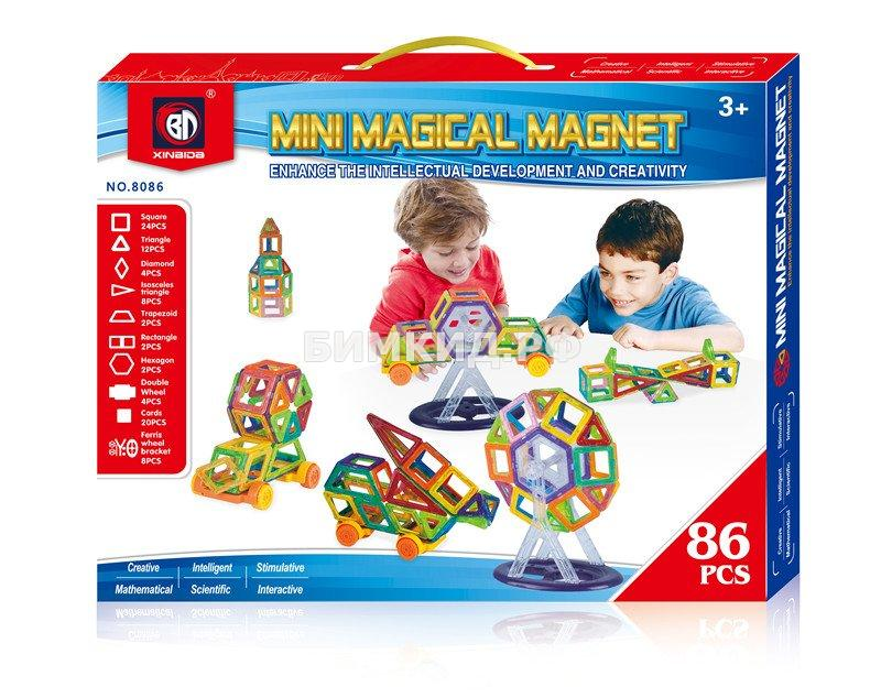 58 дет. Магнитный Мини конструктор, Magical Magnet