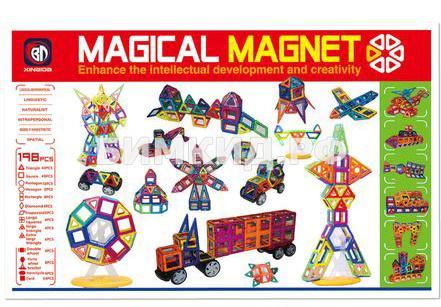 Мега-набор! 198 дет. Магнитный конструктор, Magical Magnet