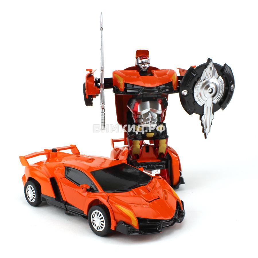 Робот-машина оранжевая ламборджини (сборка в 1 движение) Трансформеры (Transformers)