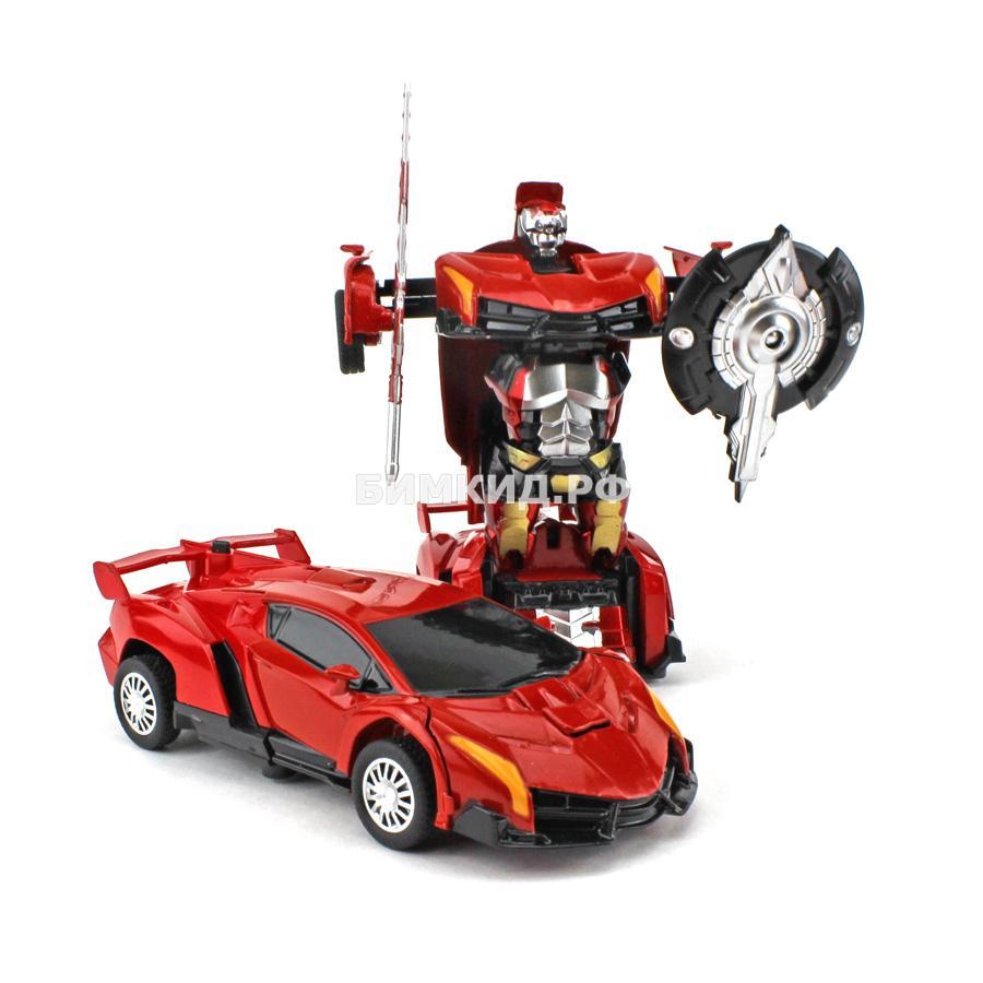 Робот-машина красная ламборджини (сборка в 1 движение) Трансформеры (Transformers)