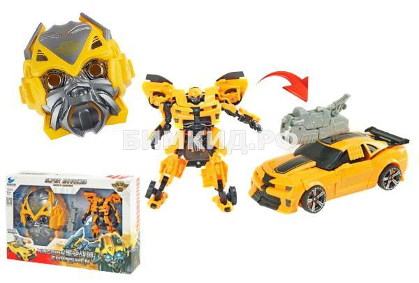 Трансформер Бамблби 18 см + Маска Бамблби Transmutation (Bumblebee)