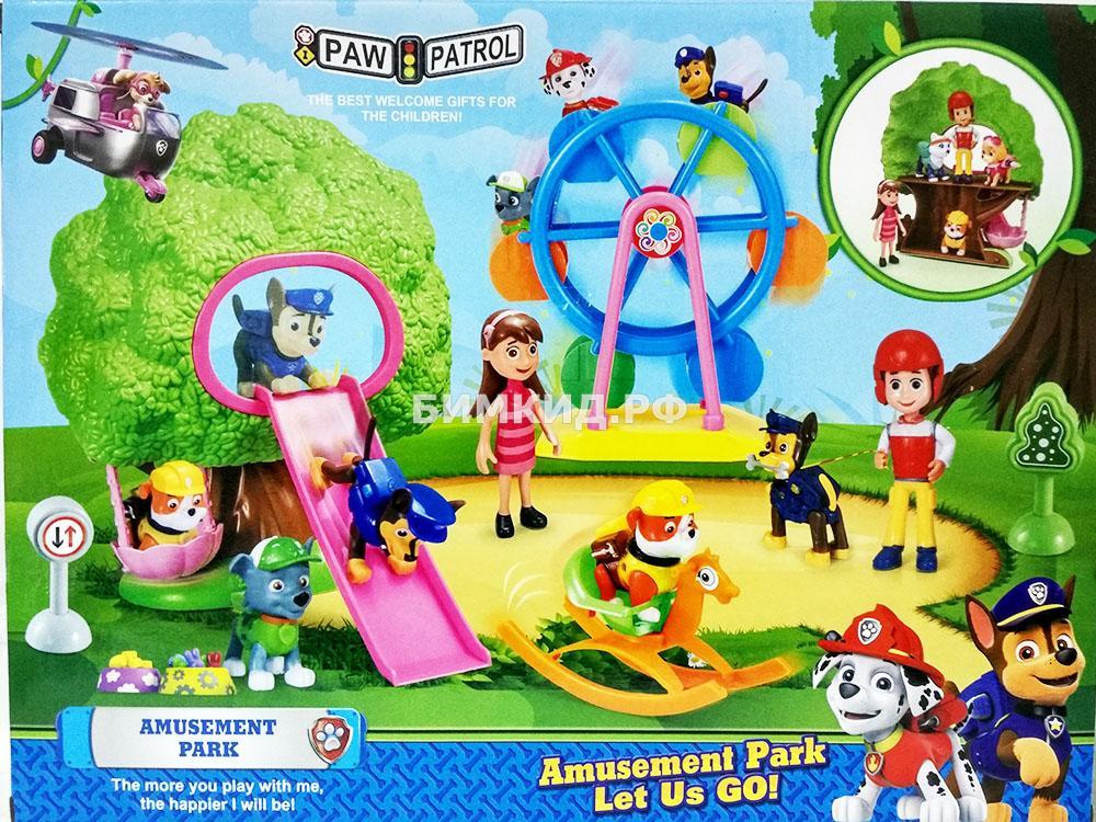 Парк развлечений + 4 фигурки (Щенячий патруль / Paw Patrol)