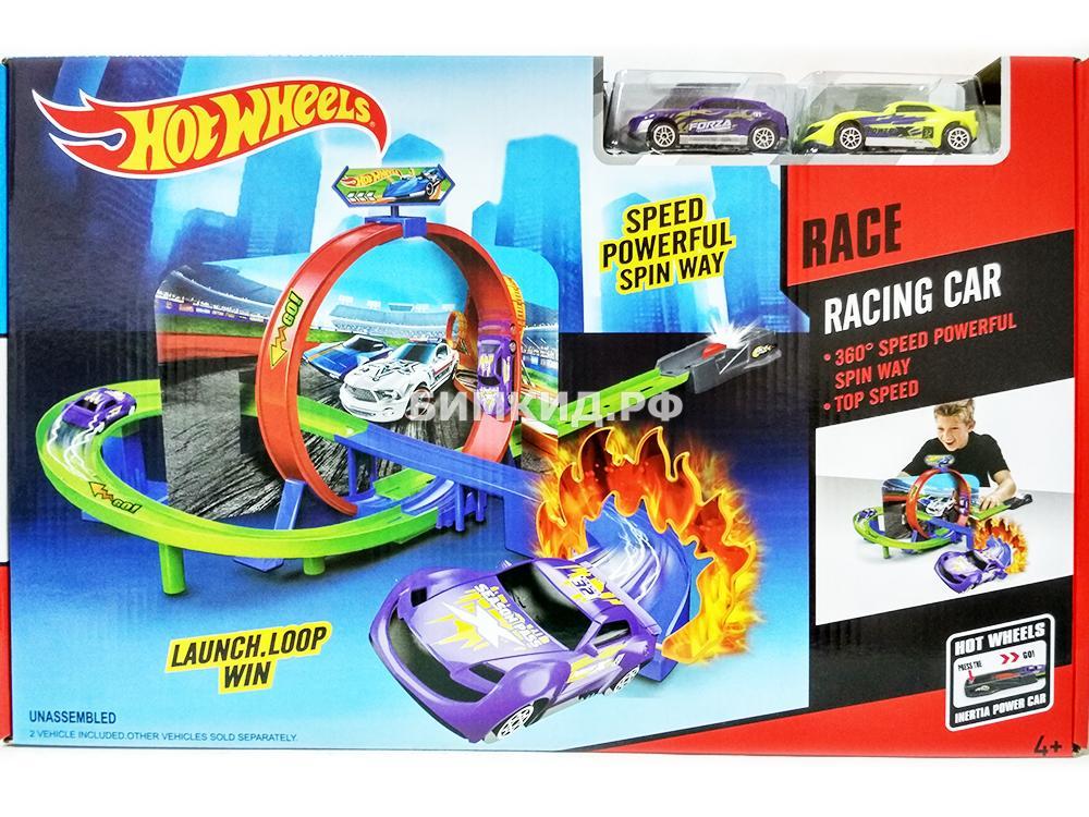 "Набор ""Трек победителя"" спираль + кольцо 360 + пусковая установка Хот Вилс (Hot Wheels)"