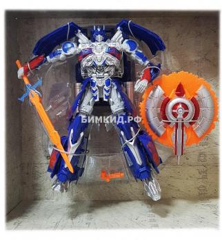 Огромный Оптимус Прайм 42 см с музыкой и светом (робот-трансформер Optimus Prime)