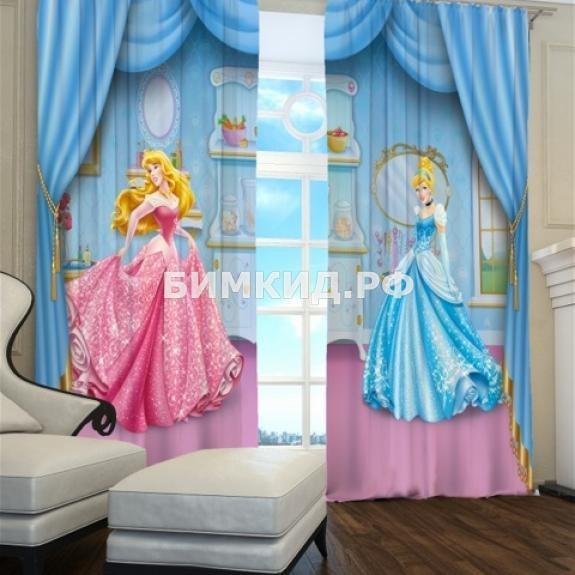 """Фотошторы в детскую комнату """"Две Принцессы"""""""