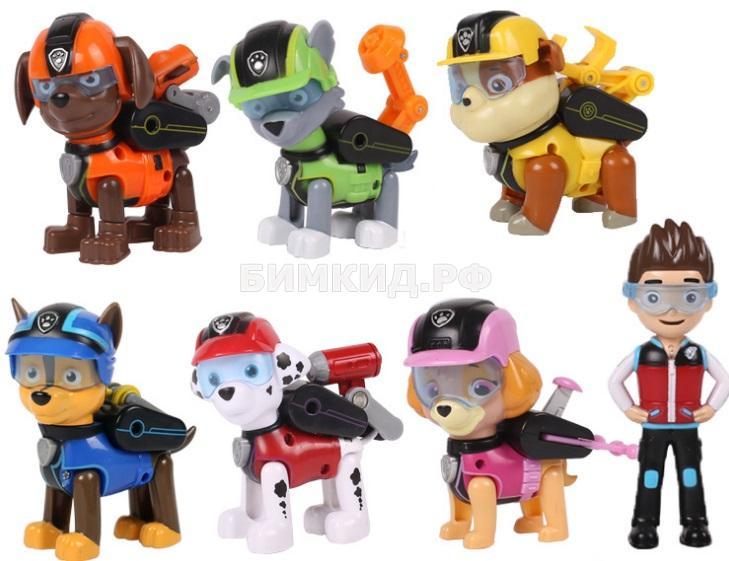 Набор Райдер и 6 героев (второе поколение!) Щенячий Патруль (Paw patrol)