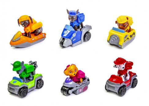 Набор 2 поколение. 6 героев с машинками и рюкзаками-трансформерами Щенячий Патруль (Paw Patrol)