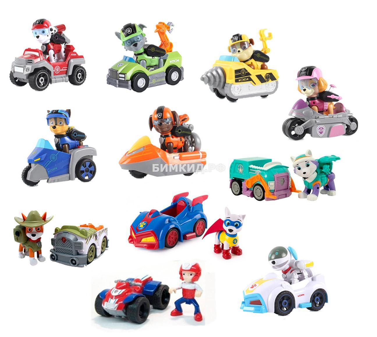 Набор 11 героев с машинками и рюкзаками-трансформерами (Щенячий патруль  Paw patrol )