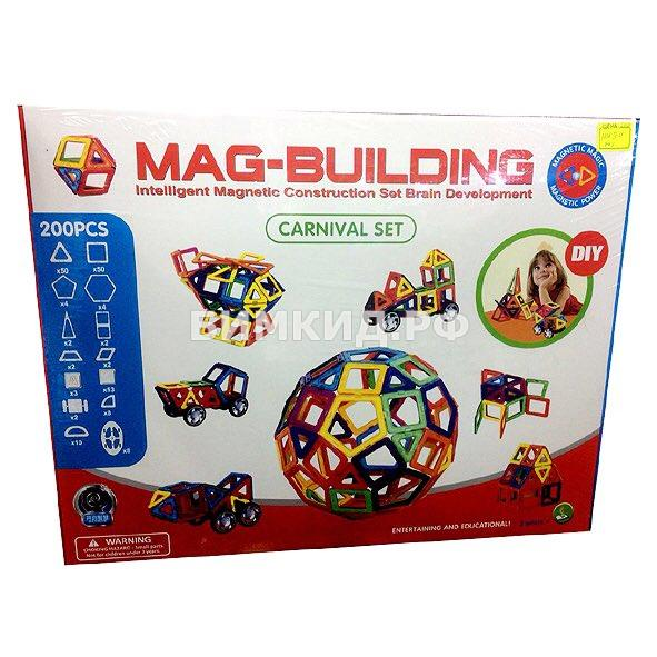 200 дет. Магнитный конструктор, Mag-Building