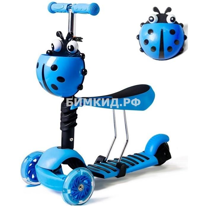 "Самокат Scooter Mini 3 в 1 ""Божья коровка"""