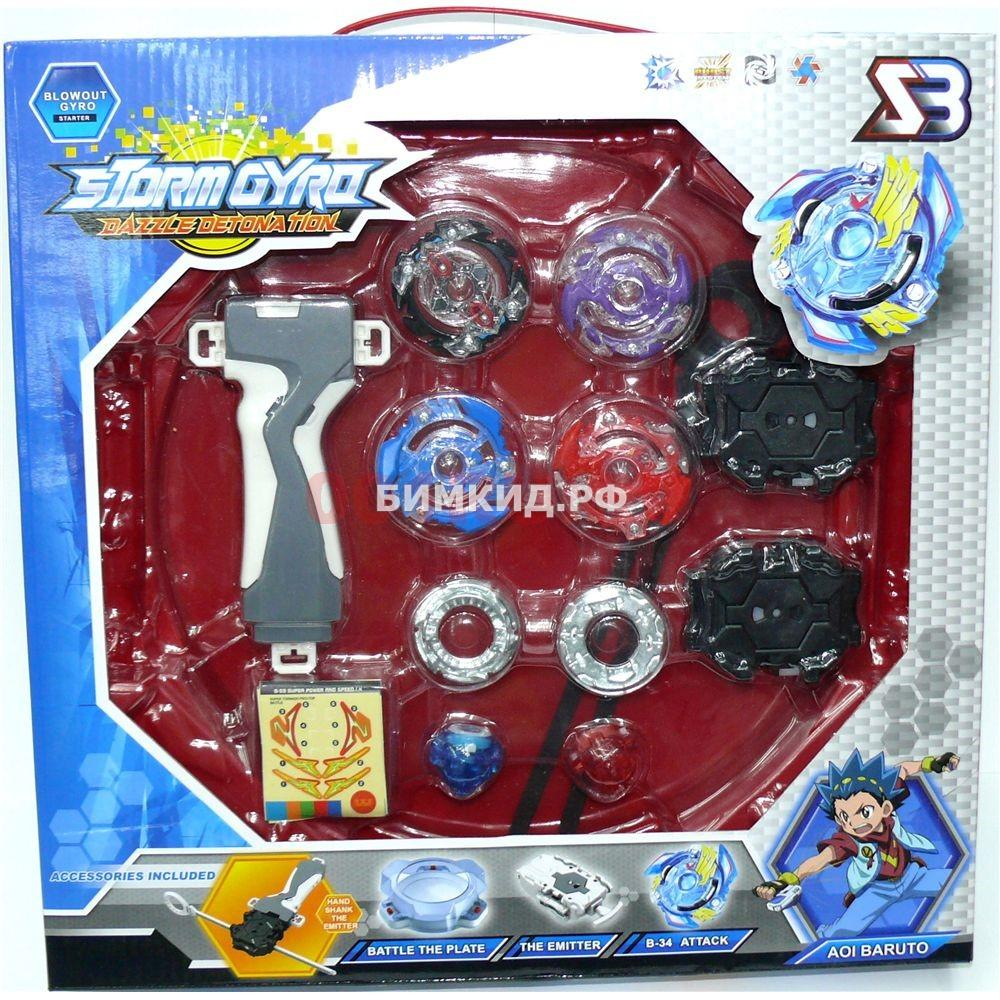 Набор Beyblade Burst red arena + 4 волчка