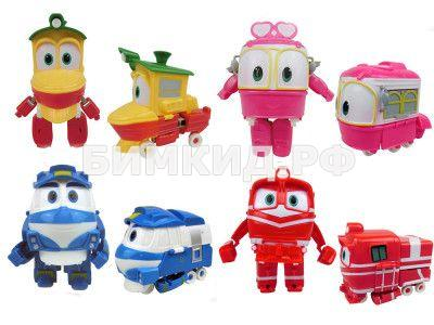 Роботы поезда: набор из 4 трансформеров (Кей, Альф, Селли и Утенок) (Robot Trains)