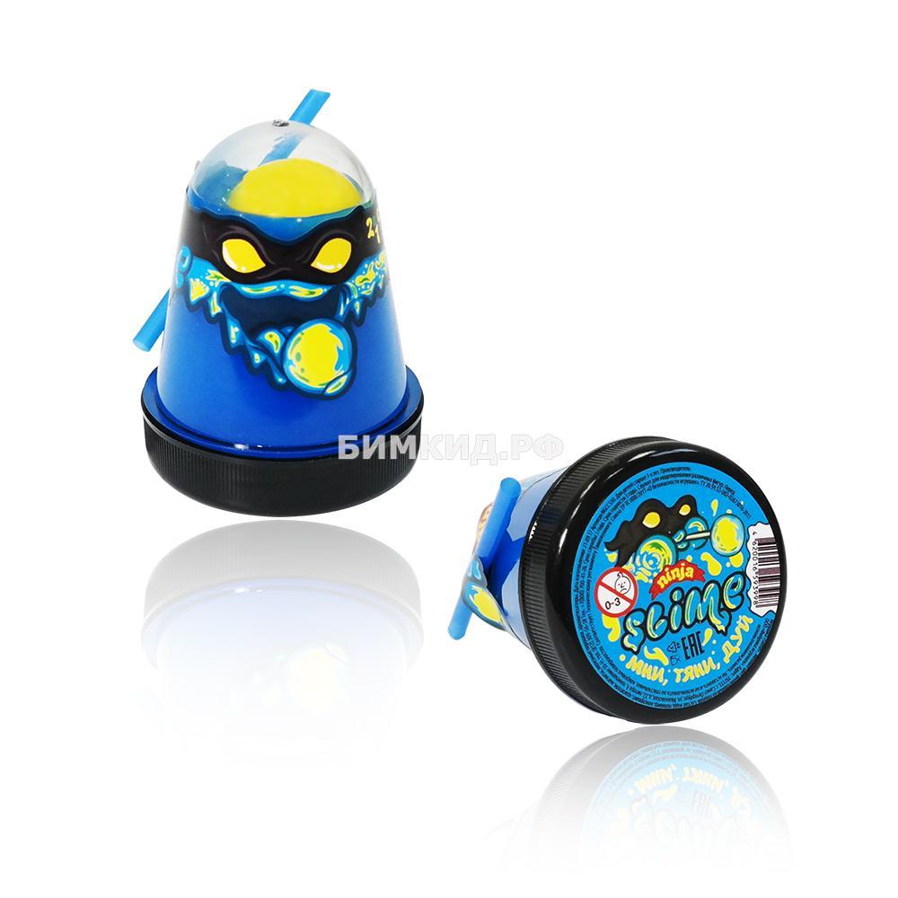 "Slime ""Ninja"" Затерянный мир синий с желтым"