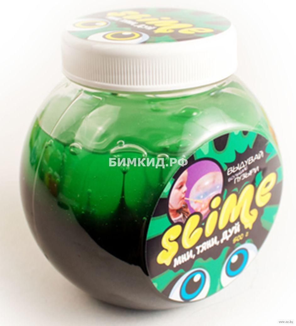 Лизун Slime «Mega Mix», черный+зеленый