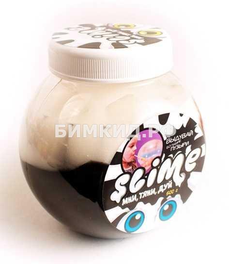 """Лизун Slime """"Mega Mix"""", черный + белый"""